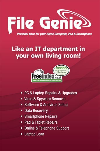 File Genie for all your tech issues! #L4G click below for further details http://www.filegenie.co.uk/