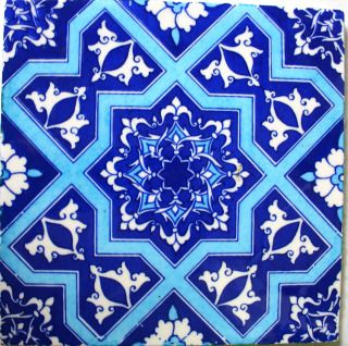 How I painted Moroccan tiles on a kitchen shelf | wannabedesignernyc