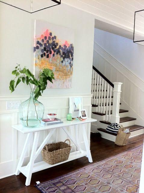 Love this!Decor, Interior Design, Entry Tables, Amber Interiors, Hallways, Entry Ways, Interiors Design, Homes, Entryway