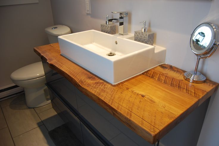 Reclaimed Live Edge Vanity Counter Top This Vanity Top Is Made With Old Growth Reclaimed Hemlock