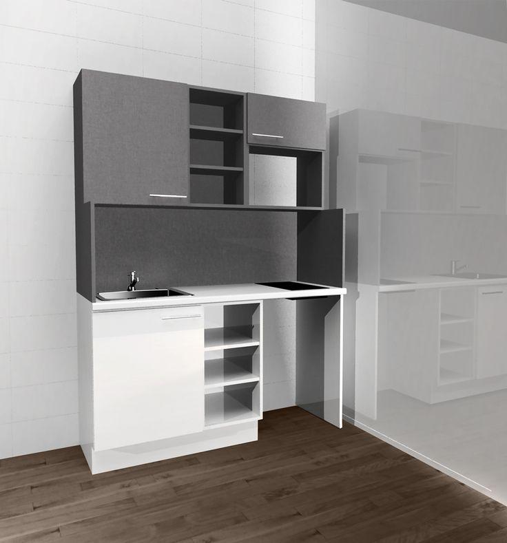Meuble kitchenette travaux en 2019 meuble kitchenette kitchenette et meuble cuisine - Cuisine kitchenette ...