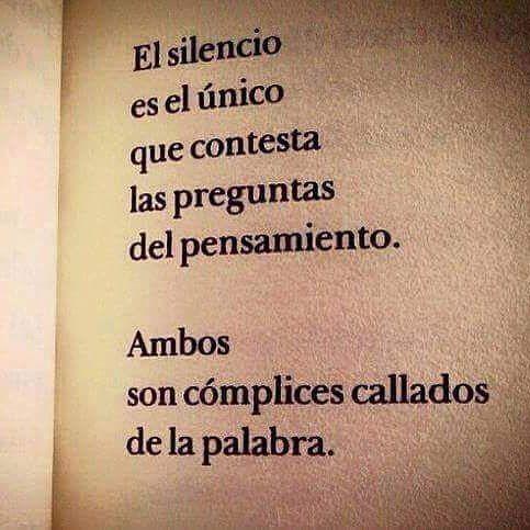 El silencio es el único #Instagram de #proZesa Instagram frases instagram proZesa
