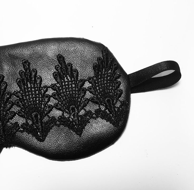 Not a fan of white? Our DIY luxury leather and lace eye mask can be made in any colour you wish! http://lingerielafemme.com/articles/diy-luxury-eye-mask/2761/
