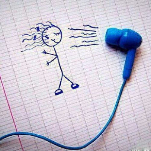 Funny Quotes About Music | cute music drawing funny Quote - PinQuotes.com