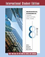 Managerial economics : theory, applications, and cases.