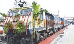 Assam gets its first Shatabdi Express with Minister of State for Railways Rajen Gohain flagging off :http://gktomorrow.com/2017/05/01/assam-gets-first-shatabdi-express/