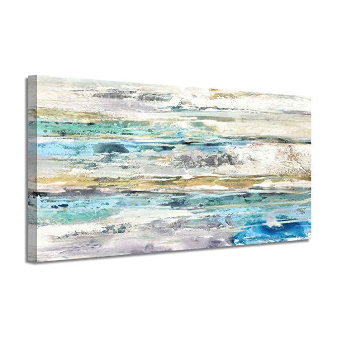 Amazon Com Abstract Picture Canvas Wall Art Sea Sky Horizon