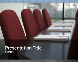 Free Business Planning PowerPoint Template for online meetings and presentations