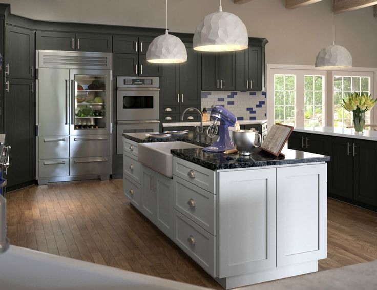 Natural Grey Shaker. Kitchen Cabinets ...