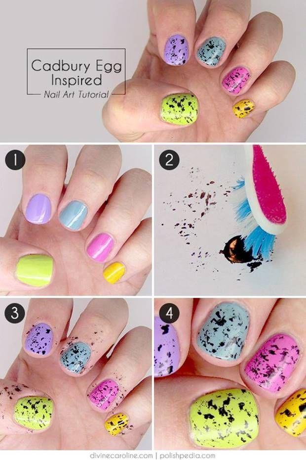 احدث الوان مناكير باستيل و بنفسجي و فضي و سماوي 2019 Latest Nail Polish Pastel Violet Easter Nail Art Tutorial Nail Art Tutorial Easter Nail Designs