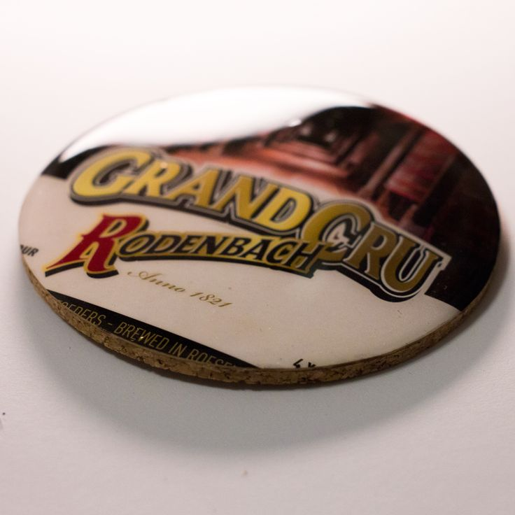 Rodenbach Grand Cru Beer Coaster - find more craft beer coasters at the Everett Made Etsy Store