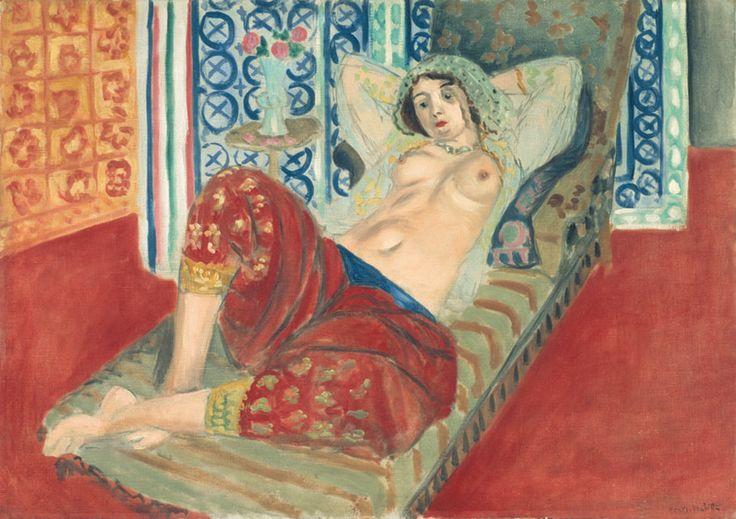 Henri Matisse, Odalisca in pantaloncini rossi,1921 olio su tel;65 X 90cm