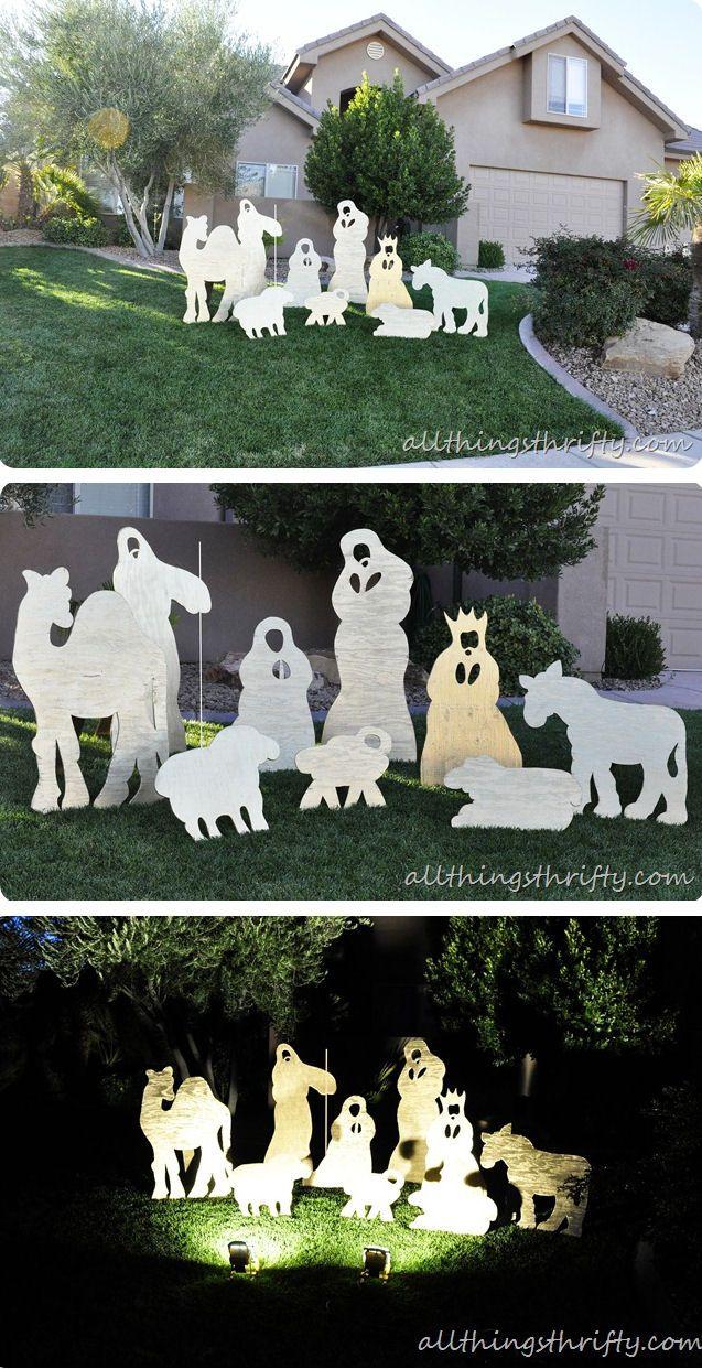 Best 25 diy christmas yard art ideas on pinterest christmas diy christmas yard nativity set solutioingenieria Choice Image