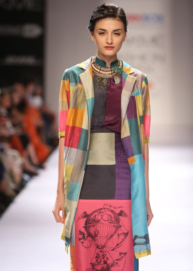 Check Balloon Bandwala Jacket, Yellow Balloon Print Shirt, Pink Balloon Pencil Skirt, Bombay Balloons AW'14 collection, Shop the whimsical and surreal collection on www.thequirkbox.com