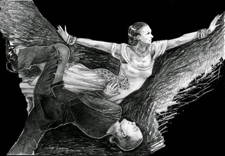 Dancers, drawing 2014 by Satu Laaninen