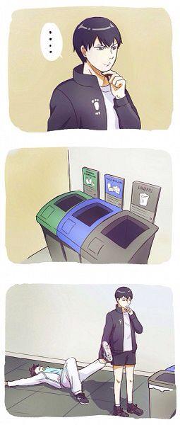 through him in the recycling bin so maybe next time he will go to shiritorizowa