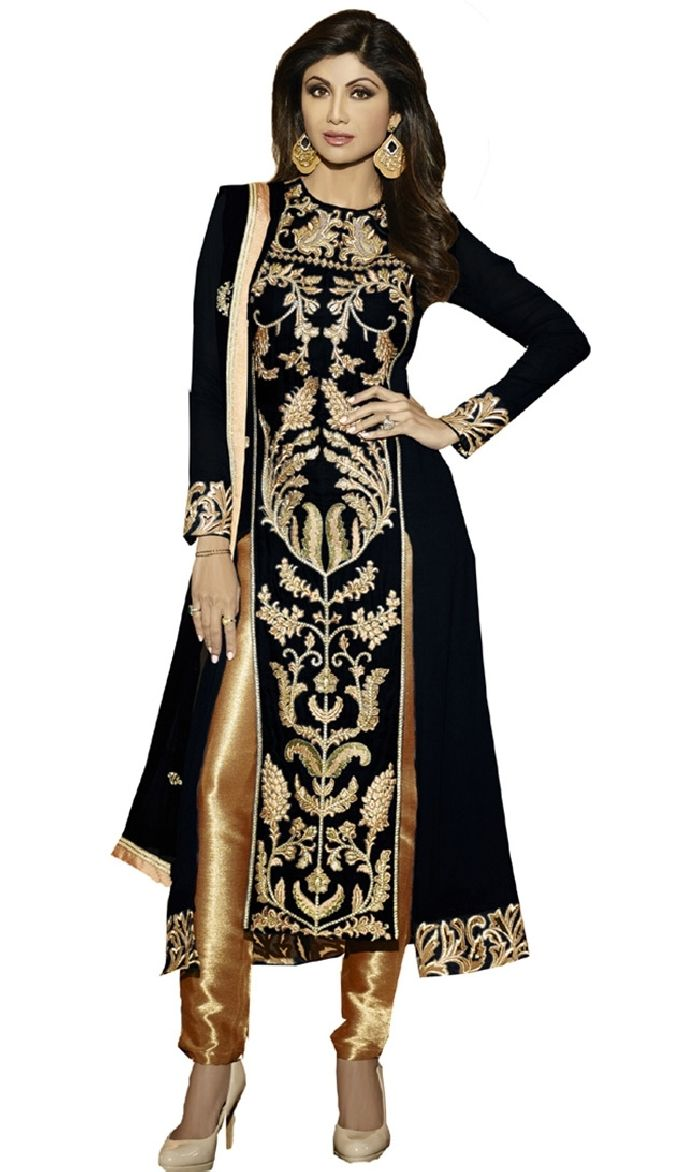 Shilpa Shetty Black Straight Pant Suit