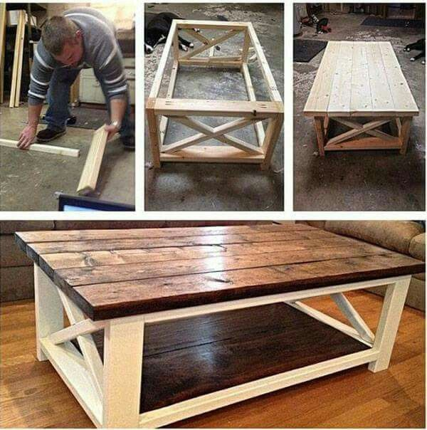 Best 25 homemade coffee tables ideas on pinterest Homemade coffee table plans
