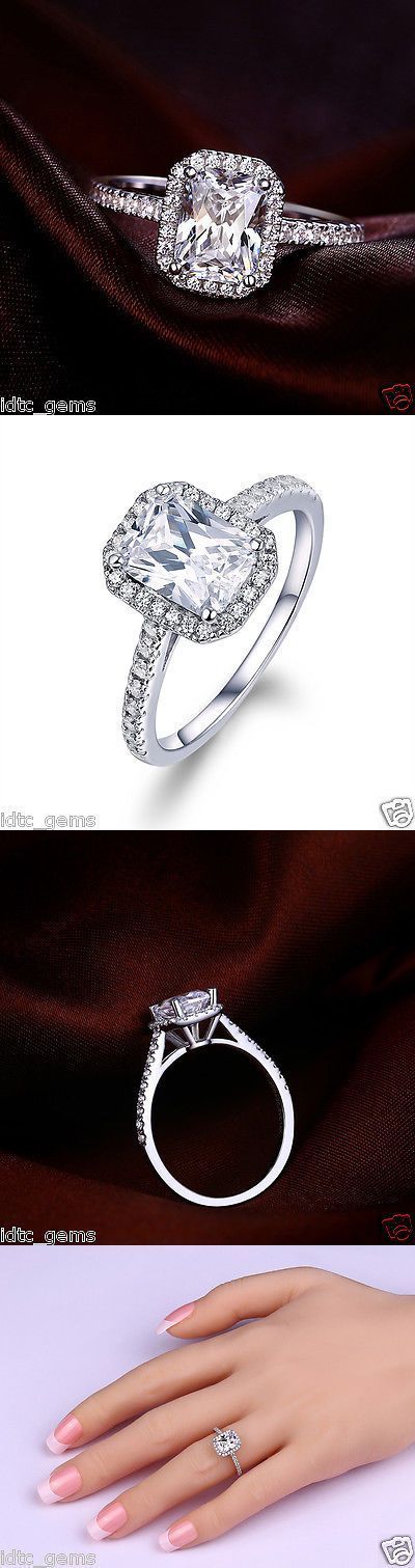 Wedding rings: 2.50 Ct Radiant Cut Solitaire Engagement Ring Solid 14Kt White Gold -> BUY IT NOW ONLY: $80 on eBay!