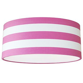 Pink and White Harlyn Deckchair Stripe Lampshade