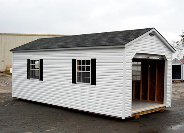 Leonard 12 X24 Hampton Vinyl Sided Wood Framed Storage Shed With Shingle Roof Fully Constructed Delivered To Backyard Leonard Buildings Vinyl Siding Shed