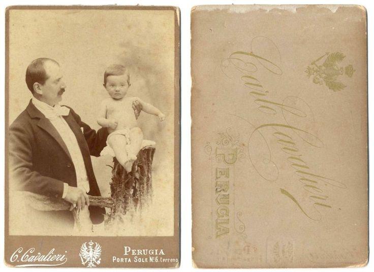 UOMO CDV 889 Foto d Epoca Carte da Visite F.Album Albumina Cavalieri.Perugia