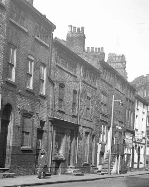 Weaver's cottages in what is now the Northern Quarter,Manchester
