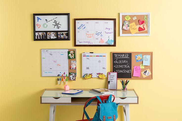 Complementa tu escritorio con estas pizarras organizadoras. #Muebles #Easytienda #Decoración #Combinaciones