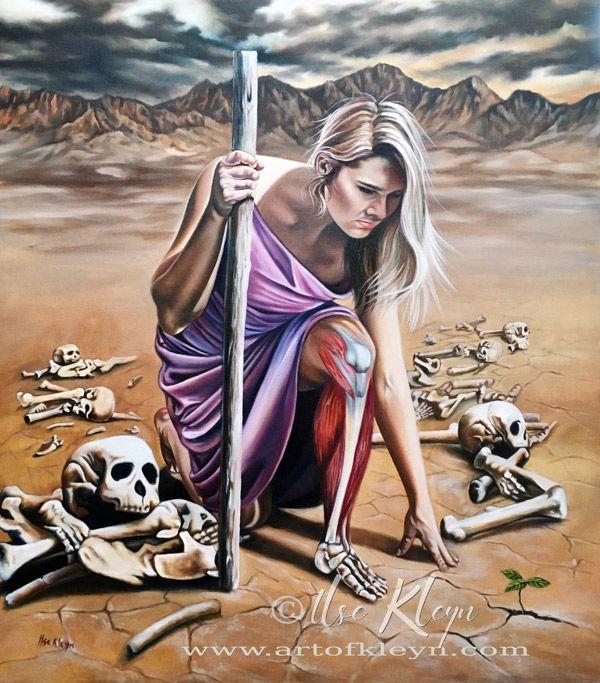 Ilse KLeyn - Сухие кости оживают | Prophetic art worship, Prophetic art, Jesus art