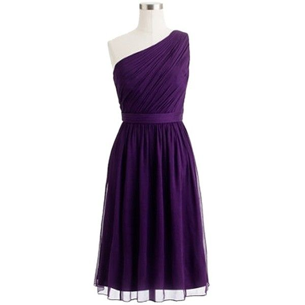 Pre-owned J.crew Nwt Kylie 6p Dress ($106) ❤ liked on Polyvore featuring dresses, petite, purple, silk dress, going out dresses, petite party dresses, purple cocktail dress and j crew dresses