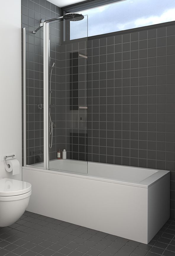 Say goodbye to the shower curtain and choose a Dansani Match bath panel instead.