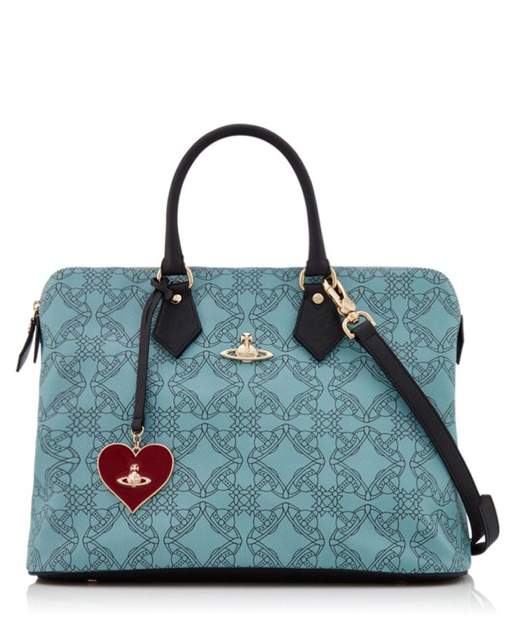 Grey leather printed grab bag  Sale - Vivienne Westwood