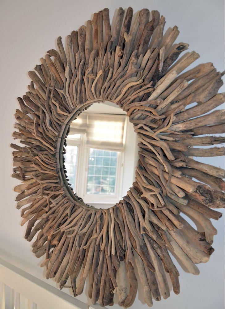 Driftwood Mirror Round Mirrors, Driftwood Mirror Round