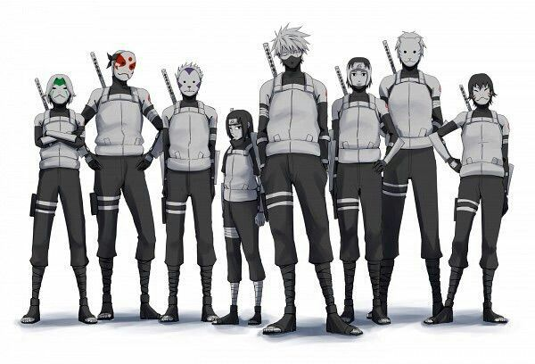 Anbu black ops :D   Oh gosh.. and there's little Itachi there x.x