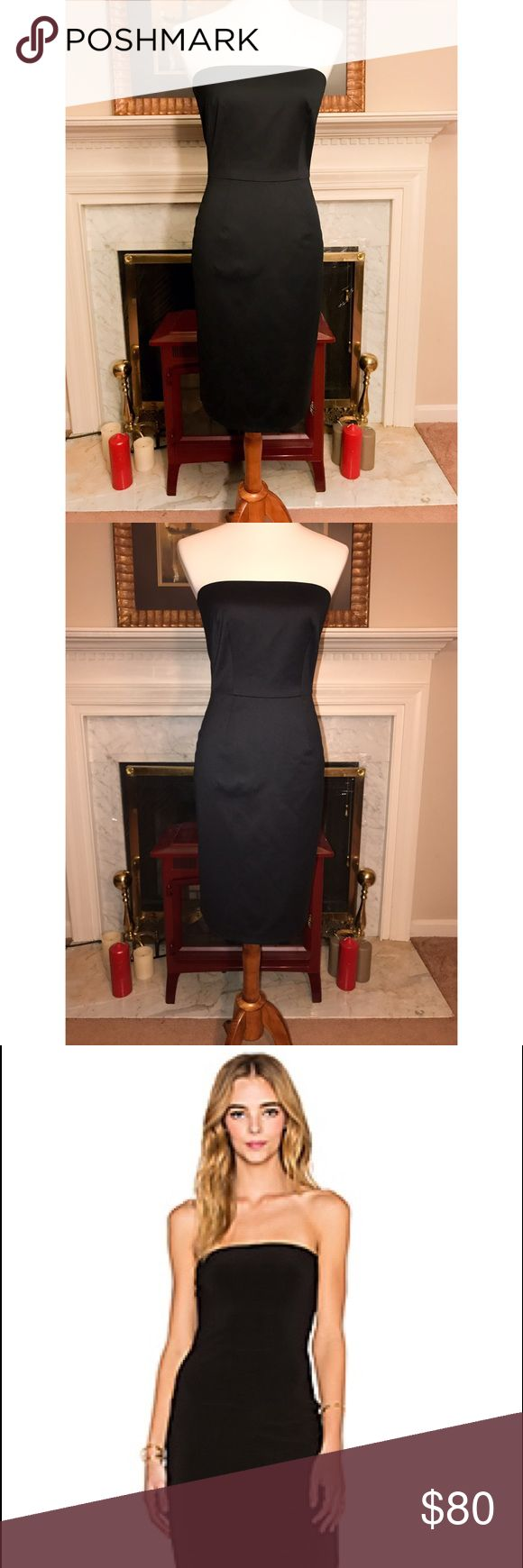 Trina Turk Strapless LBD timeless/priceless Sz 4🔥 Trina Turk Strapless LBD timeless/priceless Sz 4🔥. Beautiful length perfect curve hugger. Can be worn with stilettos 👠👛 or with a jean jacket for date night or GNO. Not to mention perfect for a blazer at work. It's a STAPLE piece! #trinaturk #lbddress #girlmeetsthrift #shopmycloset Trina Turk Dresses