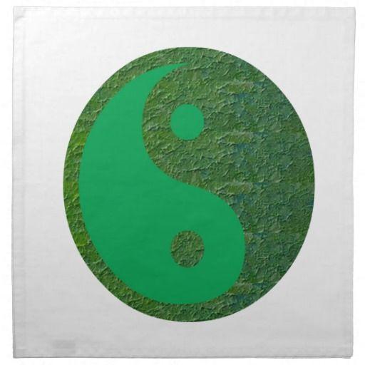 NVN27 navinJOSHI Green Balance YIN YANG Chinese Cloth Napkins