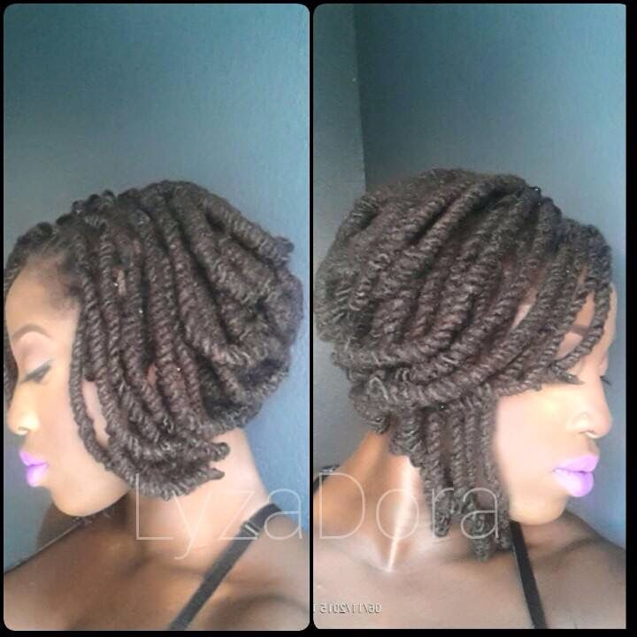 Locs styled as a bob using pipe cleaners. My friend from college has a gift! #LyzaDora
