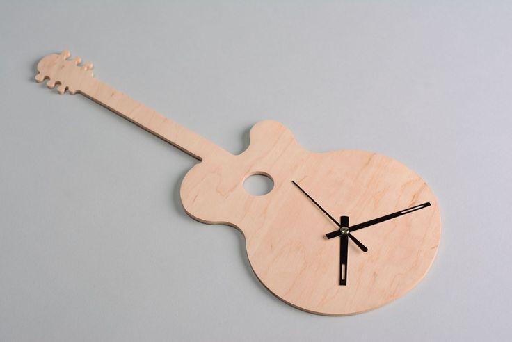 Creout.com: Фанерная заготовка под часы в виде гитары