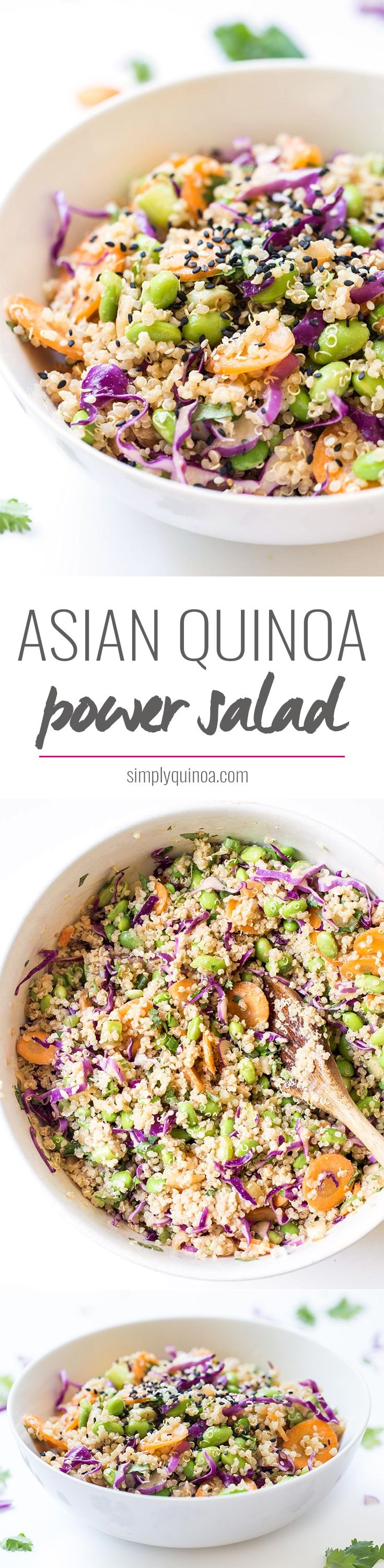 ASIAN QUINOA POWER SALAD -- 10 ingredients, 10 minutes, one bowl. DONE.