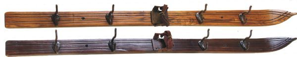"Vintage Winter -  Vintage Style kids skis 47"" with Hooks for your gear.  www.vintagewinter.com"
