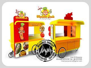 Desain Logo   Logo Kuliner    Desain Gerobak   Jasa Desain dan Produksi Gerobak: Desain Gerobak Dorong Monster Sosis