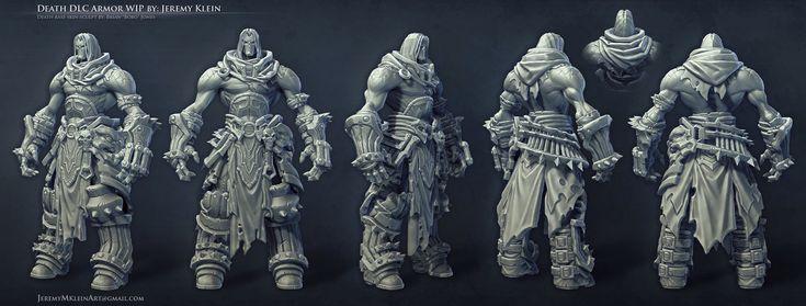 Darksiders 2: Death Armor Sculpt WIP, Jeremy Klein on ArtStation at http://www.artstation.com/artwork/darksiders-2-death-armor-sculpt-wip