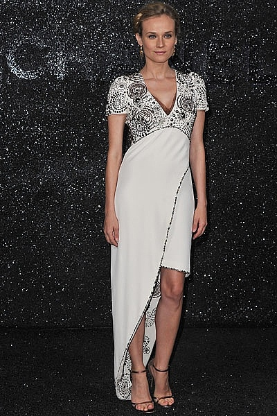 White Chanel dress. Beautiful! Would be great in cooler months.: Chanel Dress