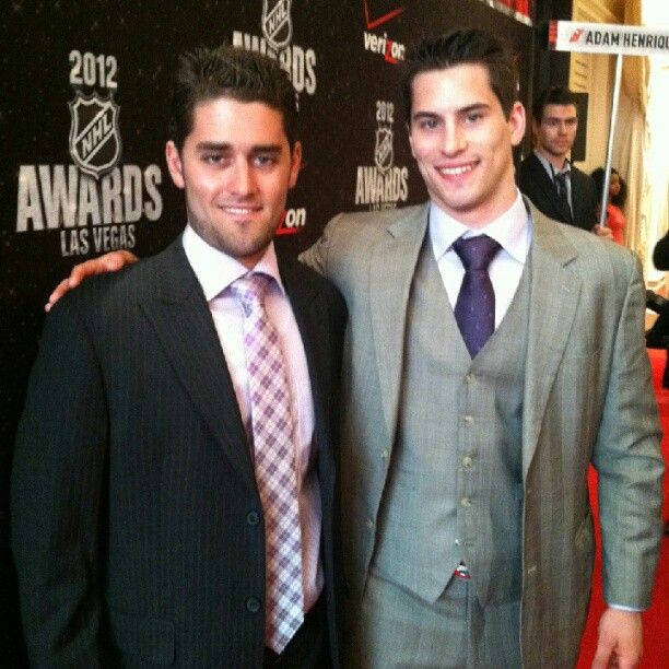 Adam Henrique and brother, Mike, at the NHL Awards 2012