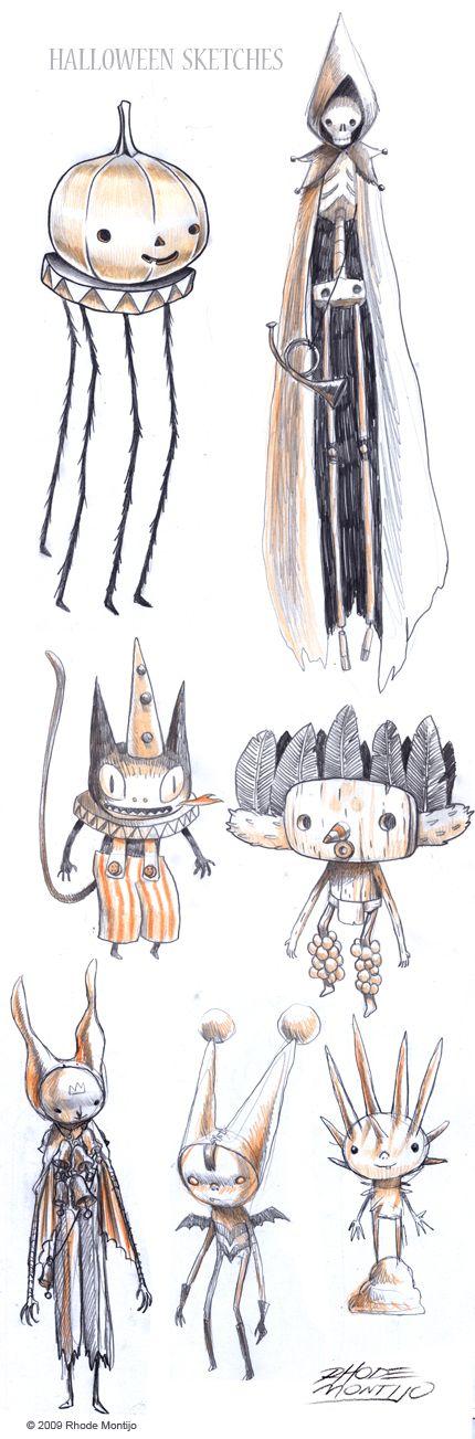 Rhode Montijo halloween sketches