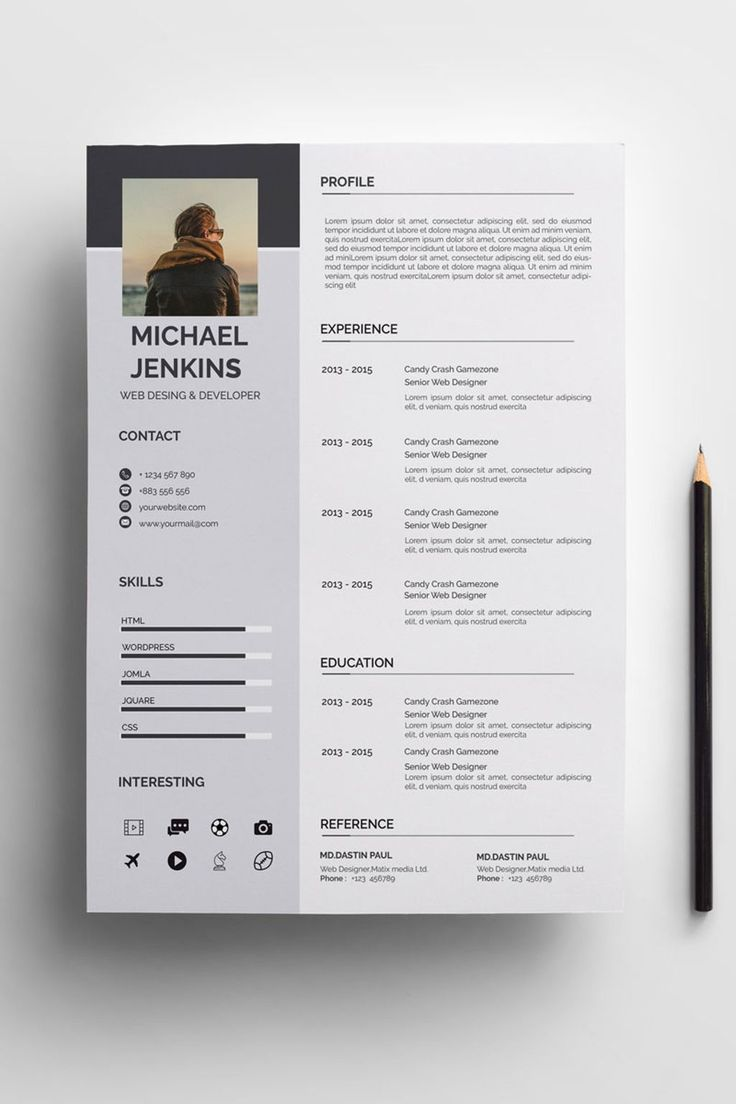 Micheral Resume Template Lebenslauf Design Lebenslauf