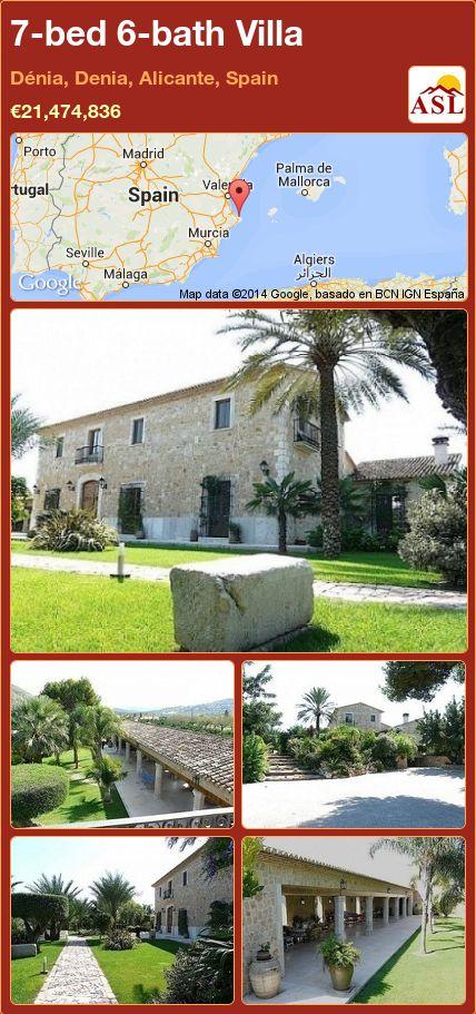 7-bed 6-bath Villa in Dénia, Denia, Alicante, Spain ►€21,474,836.47 #PropertyForSaleInSpain