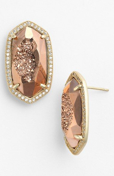 Drusy drop earrings by Kendra Scott