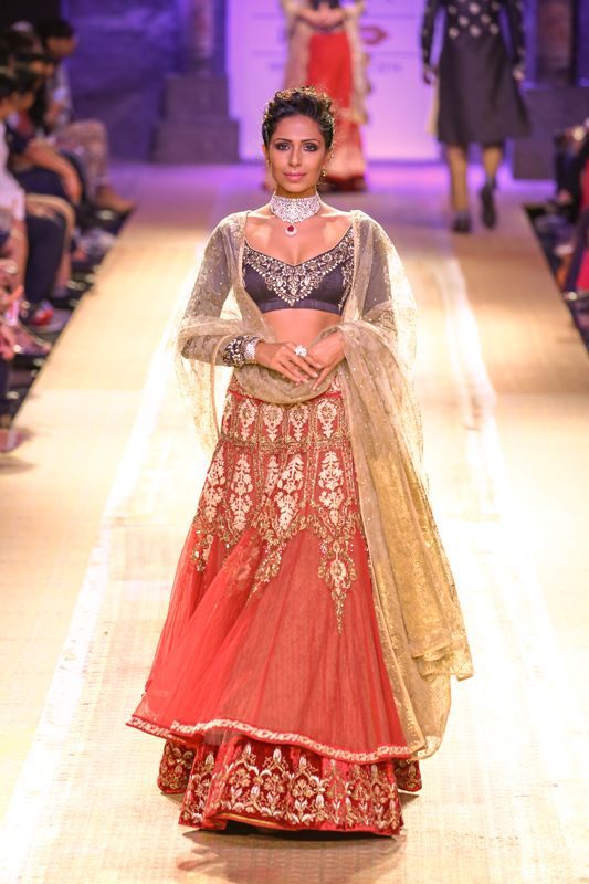 Lengha by Anju Modi at Lakme Fashion Week 2014