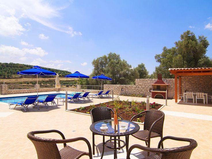 Rethymno villa rental - Outside sitting area!